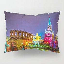 Kremlin Towers And The Main Entrance To The Kremlin At Night Pillow Sham