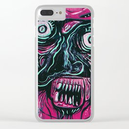 Pink Crazy Fella Clear iPhone Case