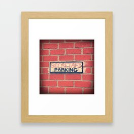 Secretary Parking Framed Art Print