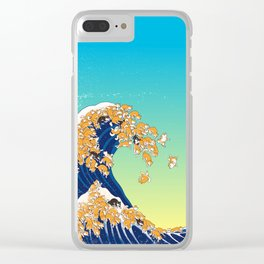 Shiba Inu in Great Wave Clear iPhone Case