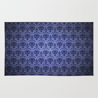 haunted mansion Area & Throw Rugs featuring Beauty Haunted Mansion Wallpaper Stretching Room by ThreeBoys
