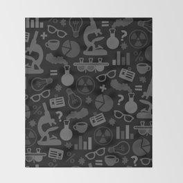Grey and Black Science Pattern Throw Blanket