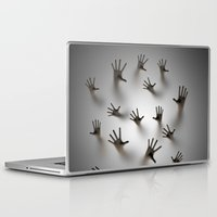 dark souls Laptop & iPad Skins featuring Lost souls by GrandeDuc