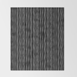 Wide Black Stripe Throw Blanket