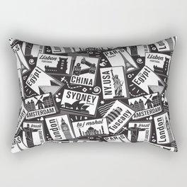 Retro Postcards // black and white Rectangular Pillow