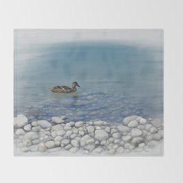 Clear water Throw Blanket
