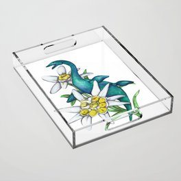 E is for Elasmosaur and Edelweiss Acrylic Tray