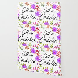 Call Me Cordelia - Purple Flowers Wallpaper