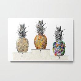 Top Pineapple 01 Metal Print