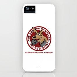 Boxing Kangaroo Coffee Company iPhone Case
