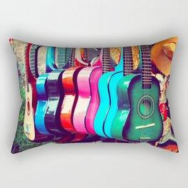 las guitarras. spanish guitars, Los Angeles photograph Rectangular Pillow