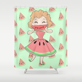 Watermelon Smile Shower Curtain