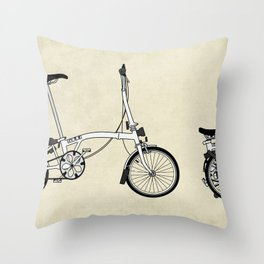 Brompton Bicycle Throw Pillow