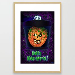 Hatty Halloween! Framed Art Print