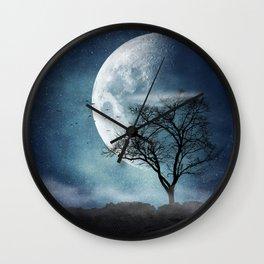 Moon Blues Wall Clock