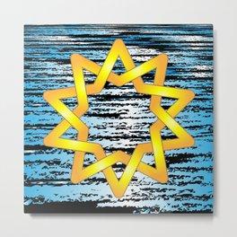 Beautiful angular Celtic style star design Metal Print