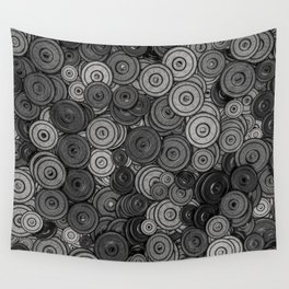 Heavy iron / 3D render of hundreds of heavy weight plates Wall Tapestry