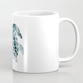 Sea Turtle - Turquoise Ocean Waves Coffee Mug