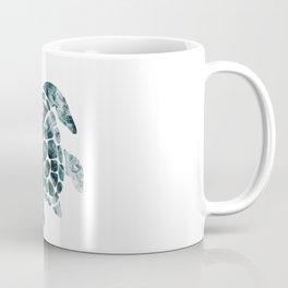 Sea Turtle - Turquoise Ocean Waves Kaffeebecher