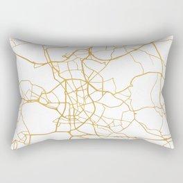 DÜSSELDORF GERMANY CITY STREET MAP ART Rectangular Pillow