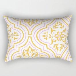 Oriental Pattern - Pink Rectangular Pillow