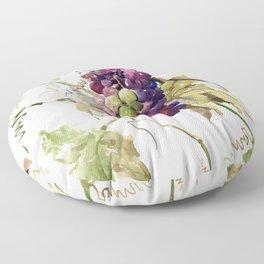 Grapes, California Vineyard Wine Lover design Floor Pillow