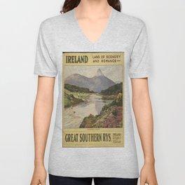 Vintage poster - Ireland Unisex V-Neck