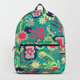 Tropical Flower Fiesta Backpack