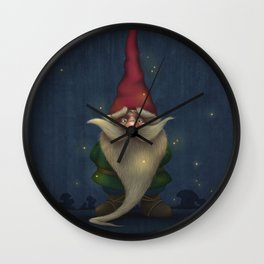 Old Christmas Gnome Wall Clock