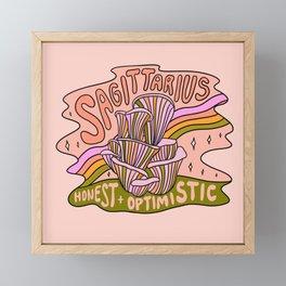 Sagittarius Mushroom Framed Mini Art Print