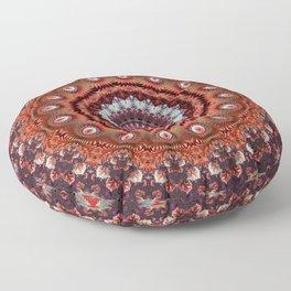 Resplendent Fractal Mandala Floor Pillow