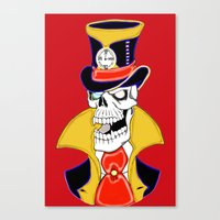 steam punk Canvas Prints featuring Steam Punk Vampire Skull by J&C Creations