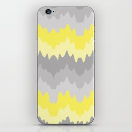Yellow Grey Gray Ombre Chevron Abstract Zigzag iPhone Skin