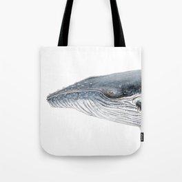 Humpback whale portrait Tote Bag