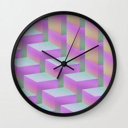 Fade Cubes II Wall Clock