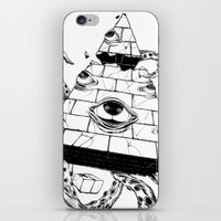 pyramid iPhone & iPod Skins featuring Pyramid by FactoriesFarAway