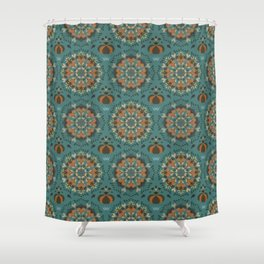 Autumn flower pattern 1e Shower Curtain