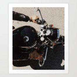 Motorcycle Joe Three Art Print