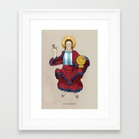 messi Framed Art Prints featuring Messi by Lawerta