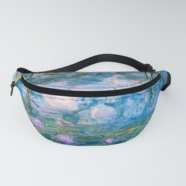 Water Lilies Monet Teal Fanny Pack