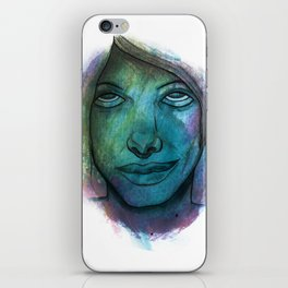 Colourful face iPhone Skin