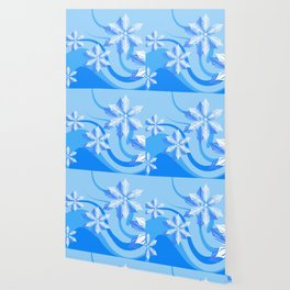 The Blue Winter Flower Wallpaper
