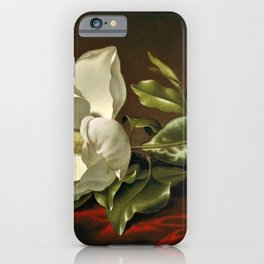 """Magnolia Grandiflora,"" 1885 by Martin Johnson Heade iPhone Case"