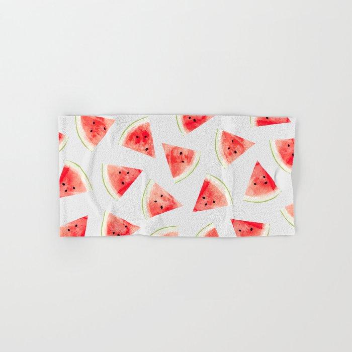 Watercolor Watermelon Pattern #society6 #buyart #decor Hand & Bath Towel