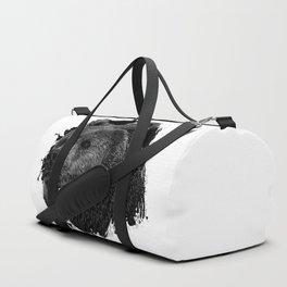 Bear Grizzly Black Duffle Bag