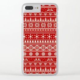 Christmas Jumper Clear iPhone Case