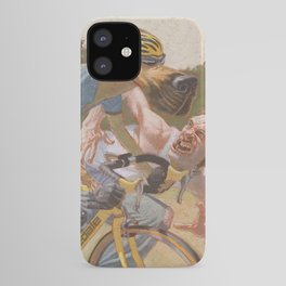 Man Chases Dog, Dog Pedals Harder iPhone Case
