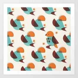 Brid Century Modern - Bird V Art Print