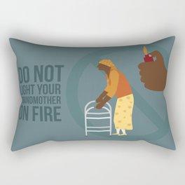 Grandma Fire Rectangular Pillow