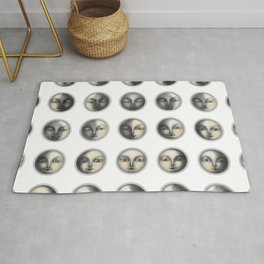moon phases and romanticism Rug